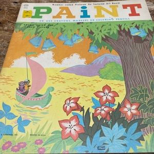 New Vintage 1969 coloring book